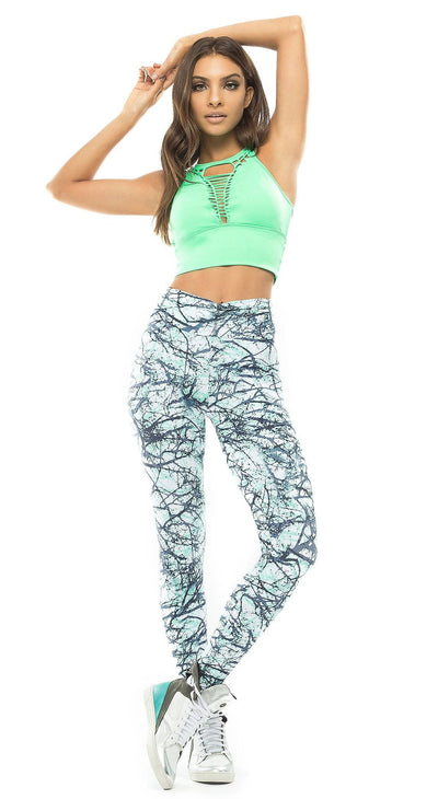 Brazilian Workout Legging - Booty Up Pockets Marble Print