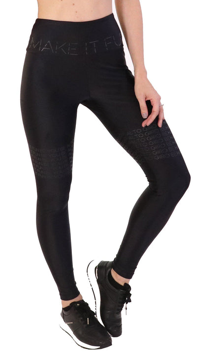 Brazilian Workout Legging- High Waist Make It Fun Black