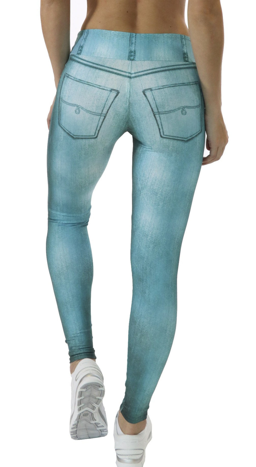 Brazilian Jegging - Curvy Fit Aqua Blue