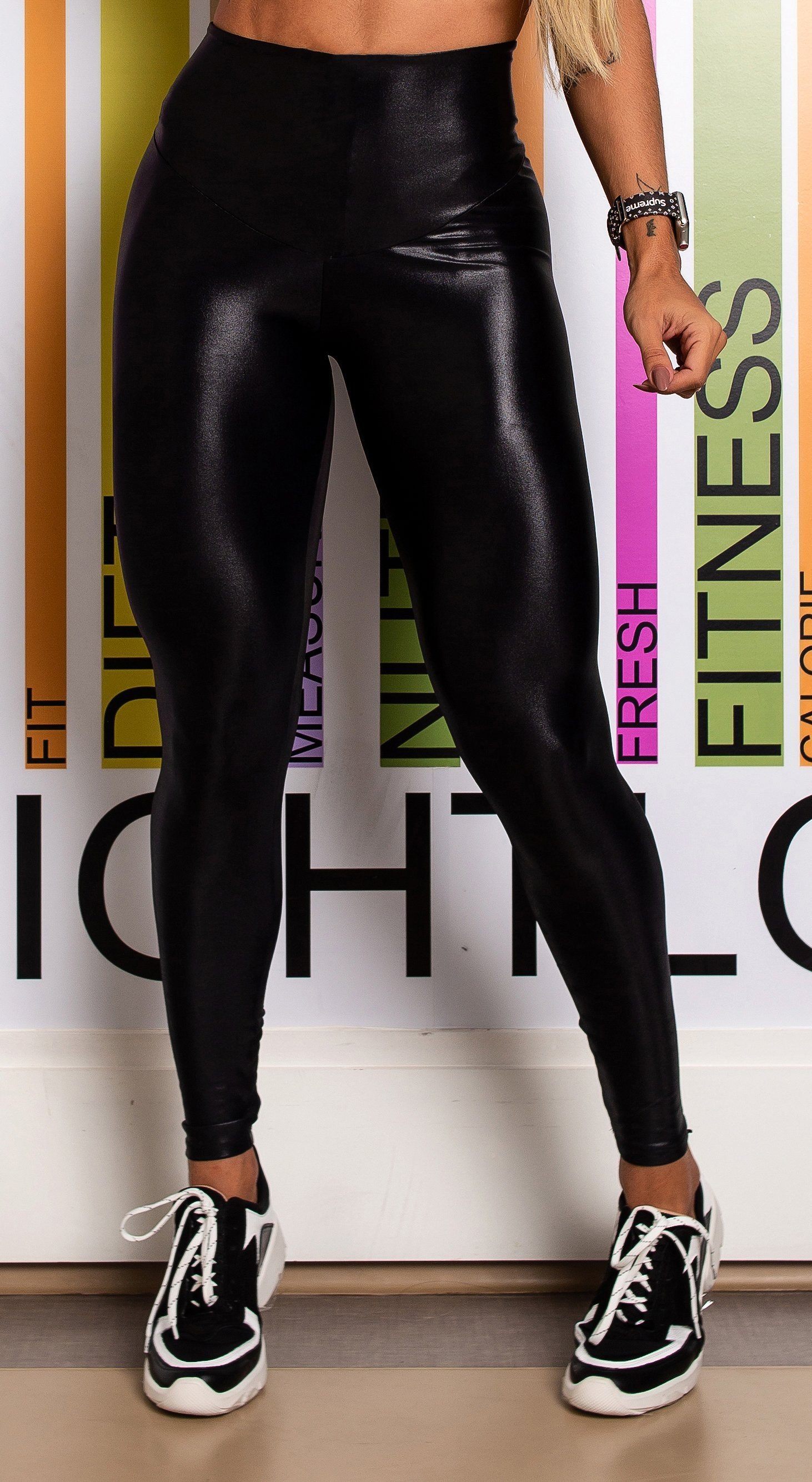Brazilian Workout Legging - High Waist Scrunch Booty Cire Black