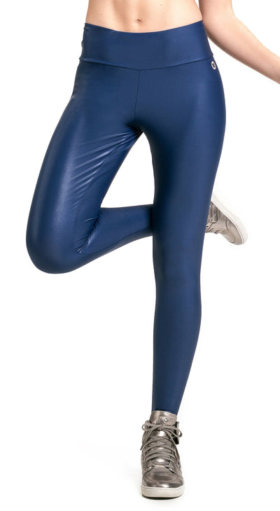 Brazilian Workout Legging - Ruched Booty Up Shiny Navy