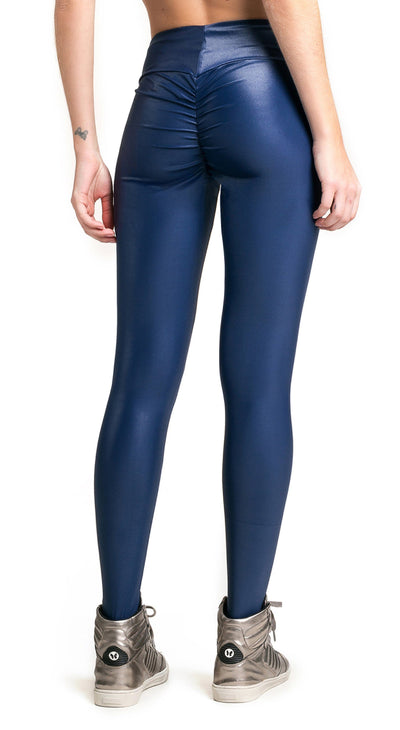 Brazilian Workout Legging - Ruched Booty Up Shiny Navy - Top Rio Shop fb92836c2