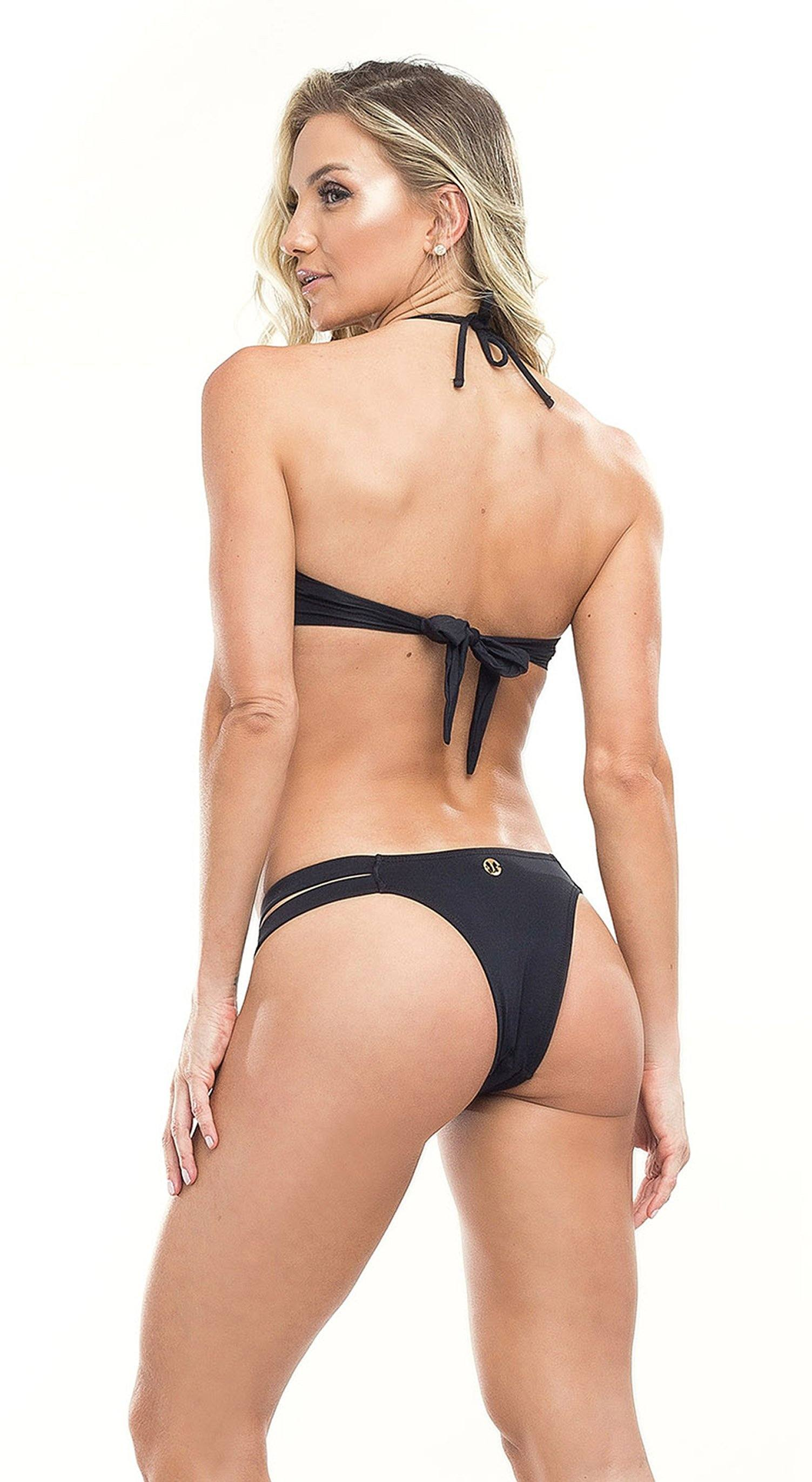 Brazilian Bikini Set - Diamond Black