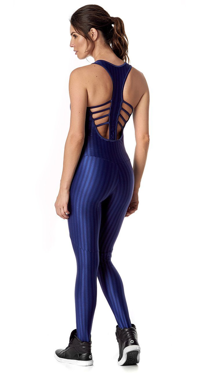 Brazilian Workout Jumpsuit - Mirror Navy