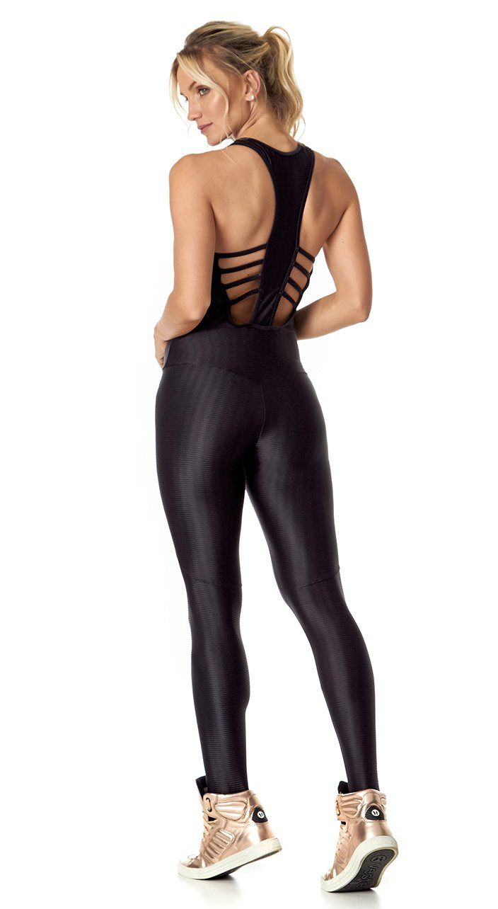 Brazilian Workout Jumpsuit - Mirror Black