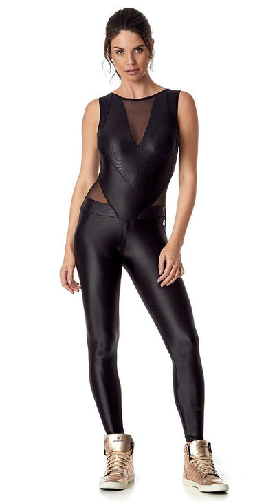 Brazilian Workout Jumpsuit - Mysterious Black