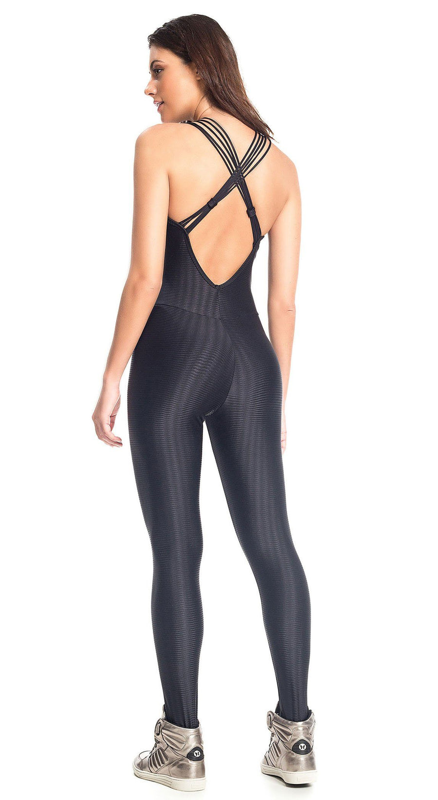 Brazilian Workout Jumpsuit - Queen Bee Black