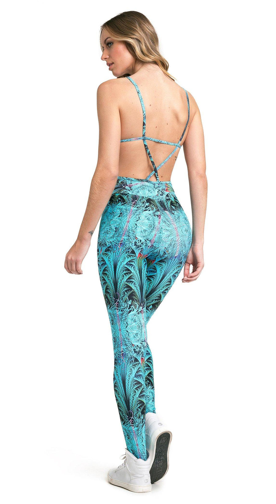Brazilian Workout Jumpsuit - Starfish Printed One Piece