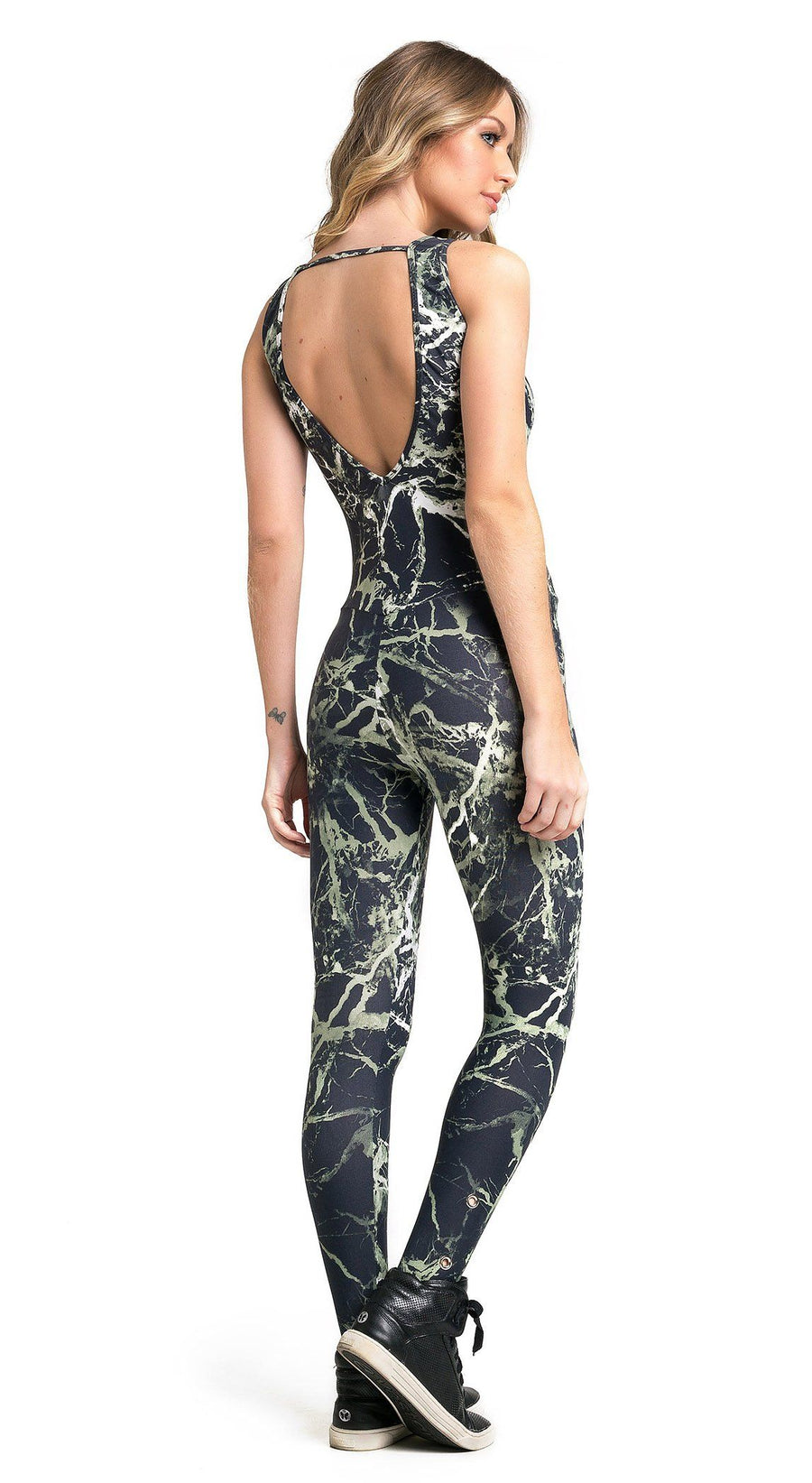 Brazilian Workout Jumpsuit - Diva Army Printed Catsuit