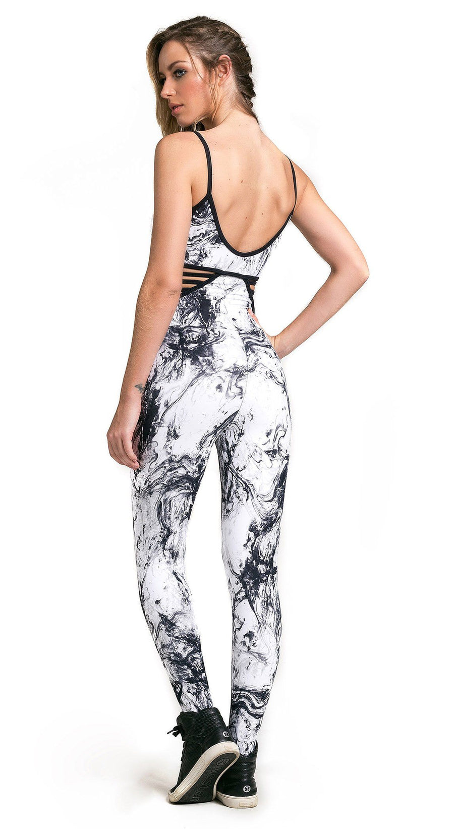 Brazilian Workout Jumpsuit - Party Printed One Piece