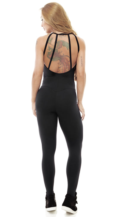 Brazilian Workout Jumpsuit - Adventure Black Catsuit