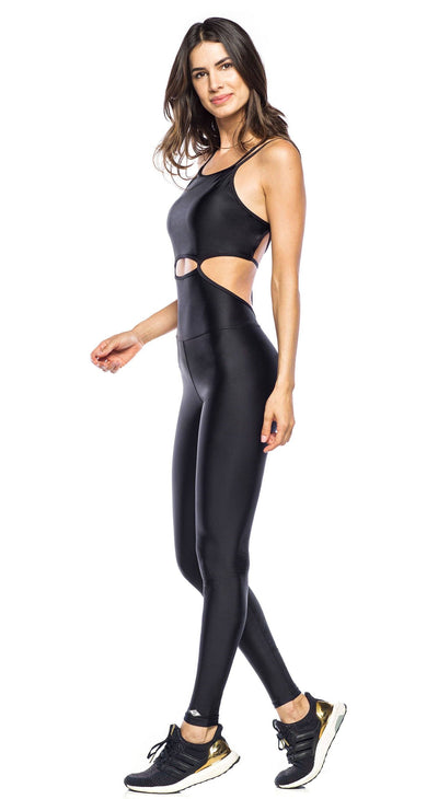 Brazilian Workout Jumpsuit - Lupinus Black