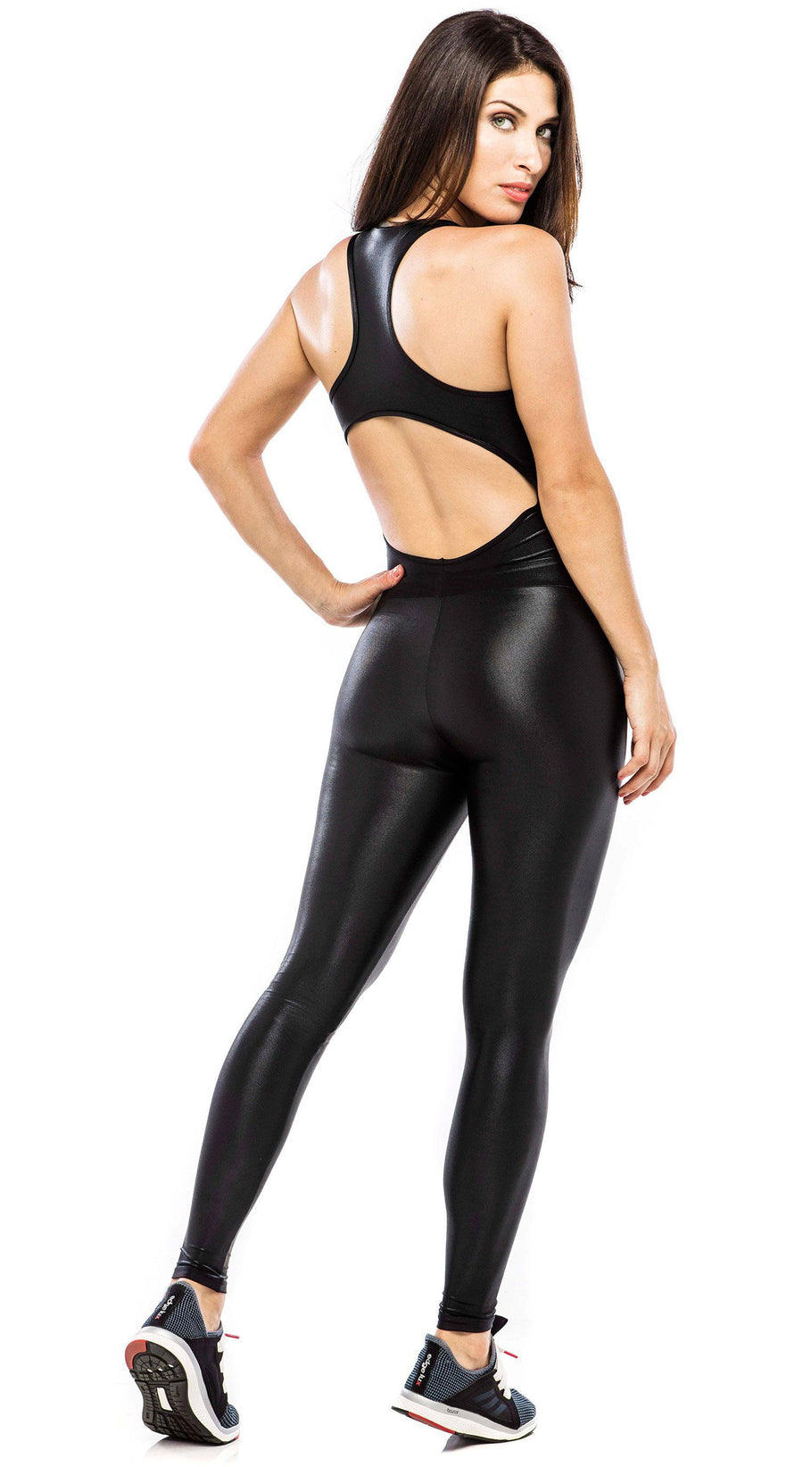 Brazilian Workout Jumpsuit - Metalla Black