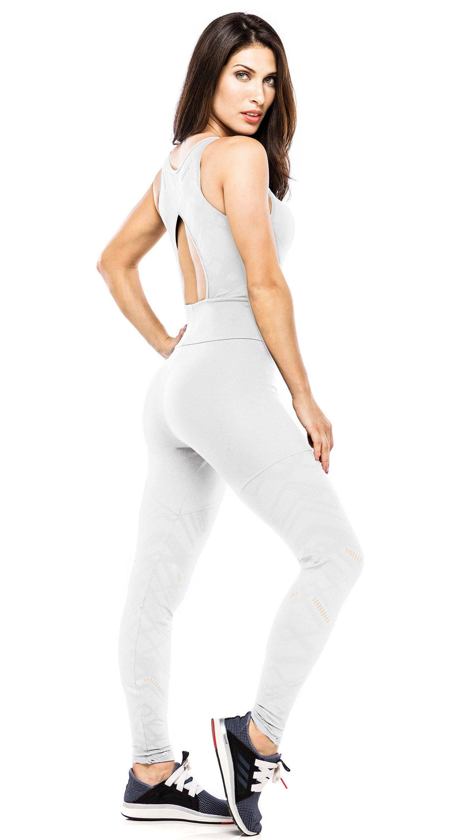 Brazilian Workout Jumpsuit - Lux White