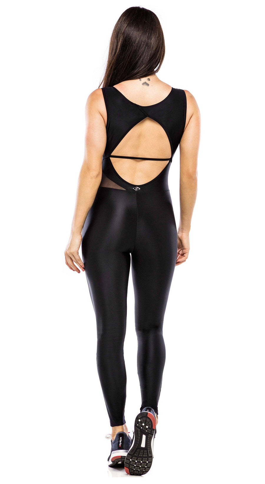 Brazilian Workout Jumpsuit - Muds Shiny Black