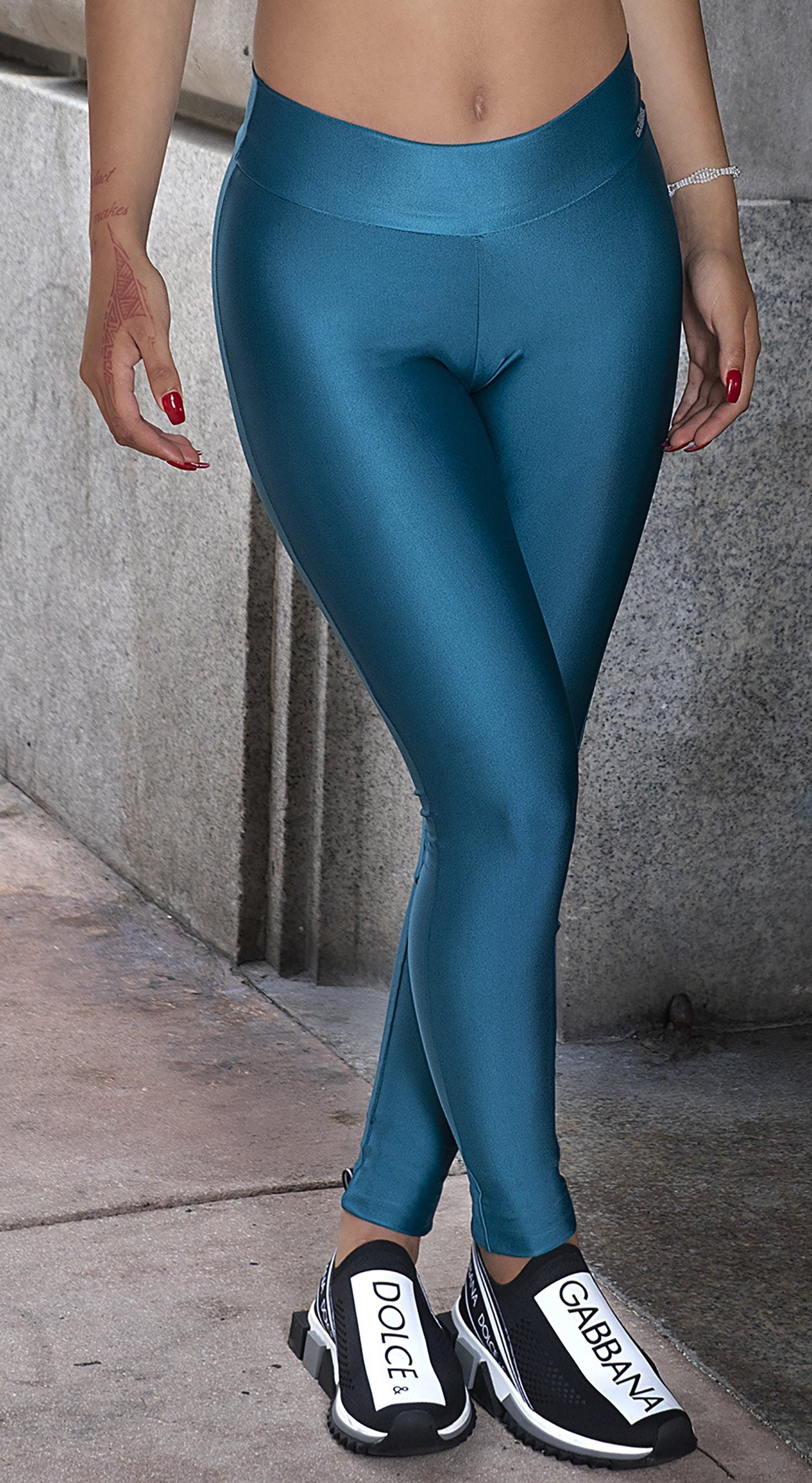 Sobe Scrunch Booty Teal Green Brazilian Leggings