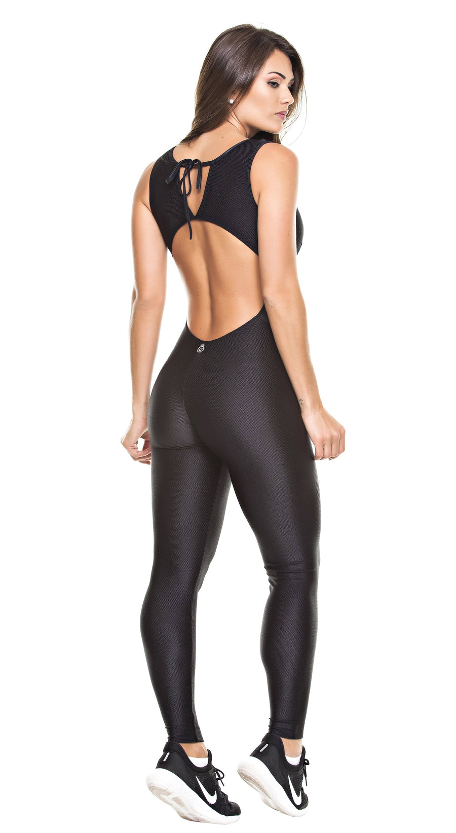Brazilian Workout Jumpsuit - Bossy Mesh On Black