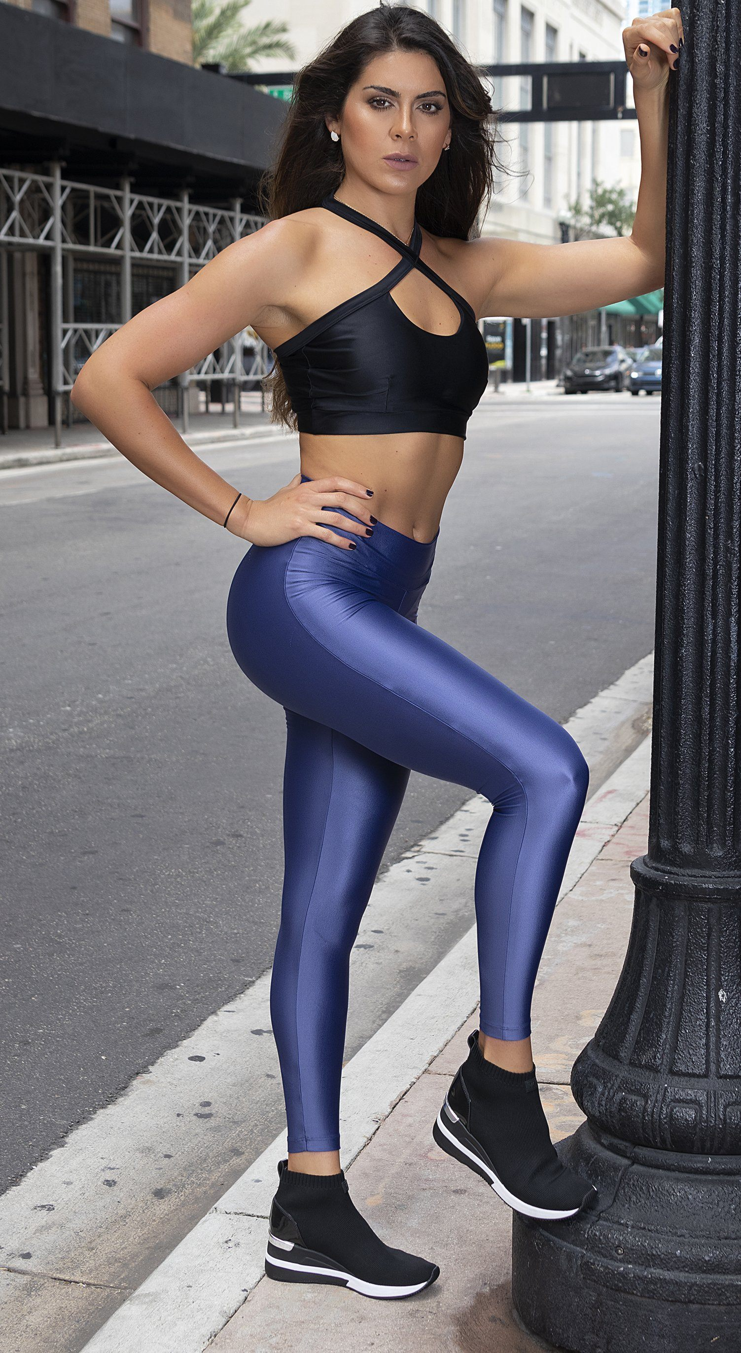 Brazilian Workout Legging -  SoBe Scrunch Booty Blue