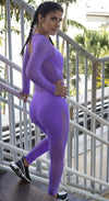 Brazilian Workout Jumpsuit - Spot Purple