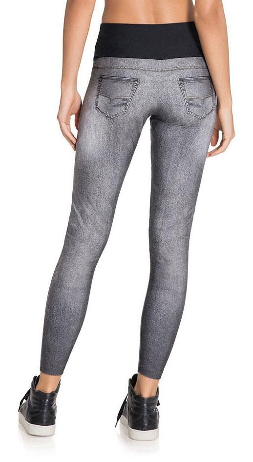 Brazilian Jean Legging - Boost Wash Denim Legging Gray