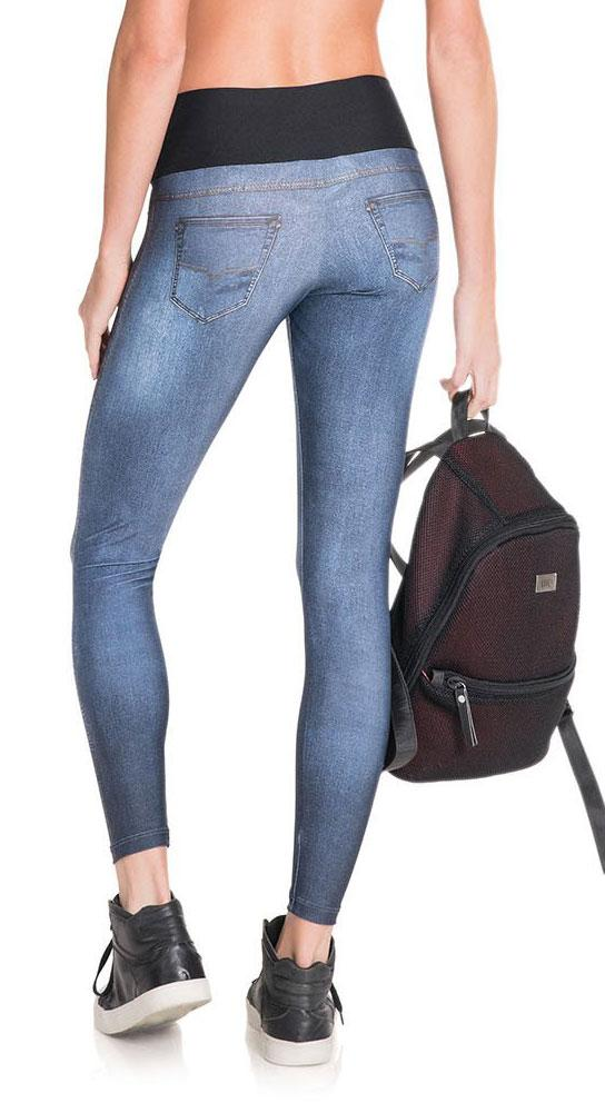 Brazilian Jean Legging - Boost Wash Denim Legging Blue