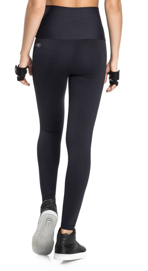 High Waist Emana Basic Gym Tight - Black