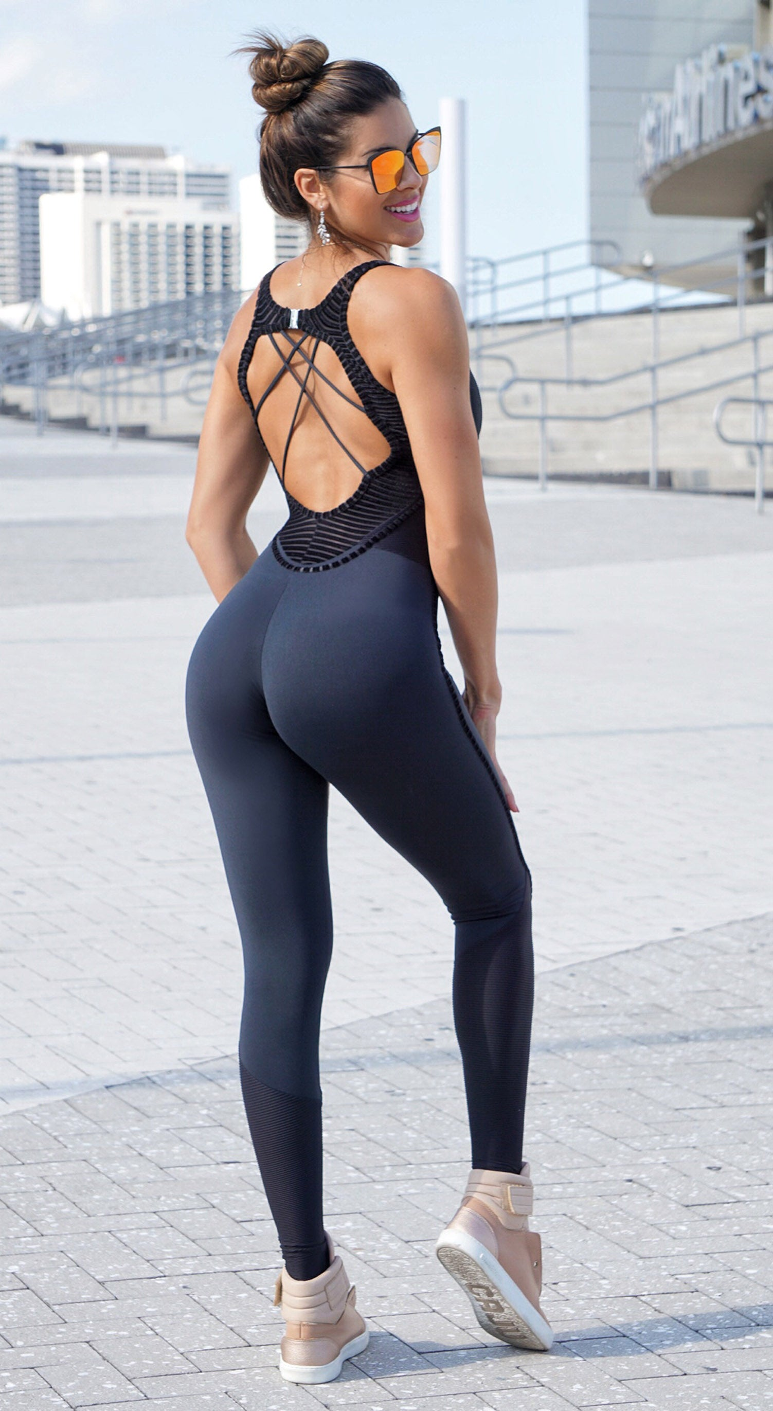 Brazilian Fitness Jumpsuit - NZ Cute Black