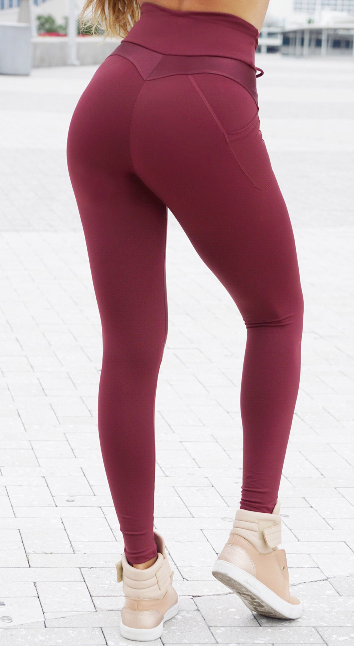 Active Legging - NZ Up Dark Red