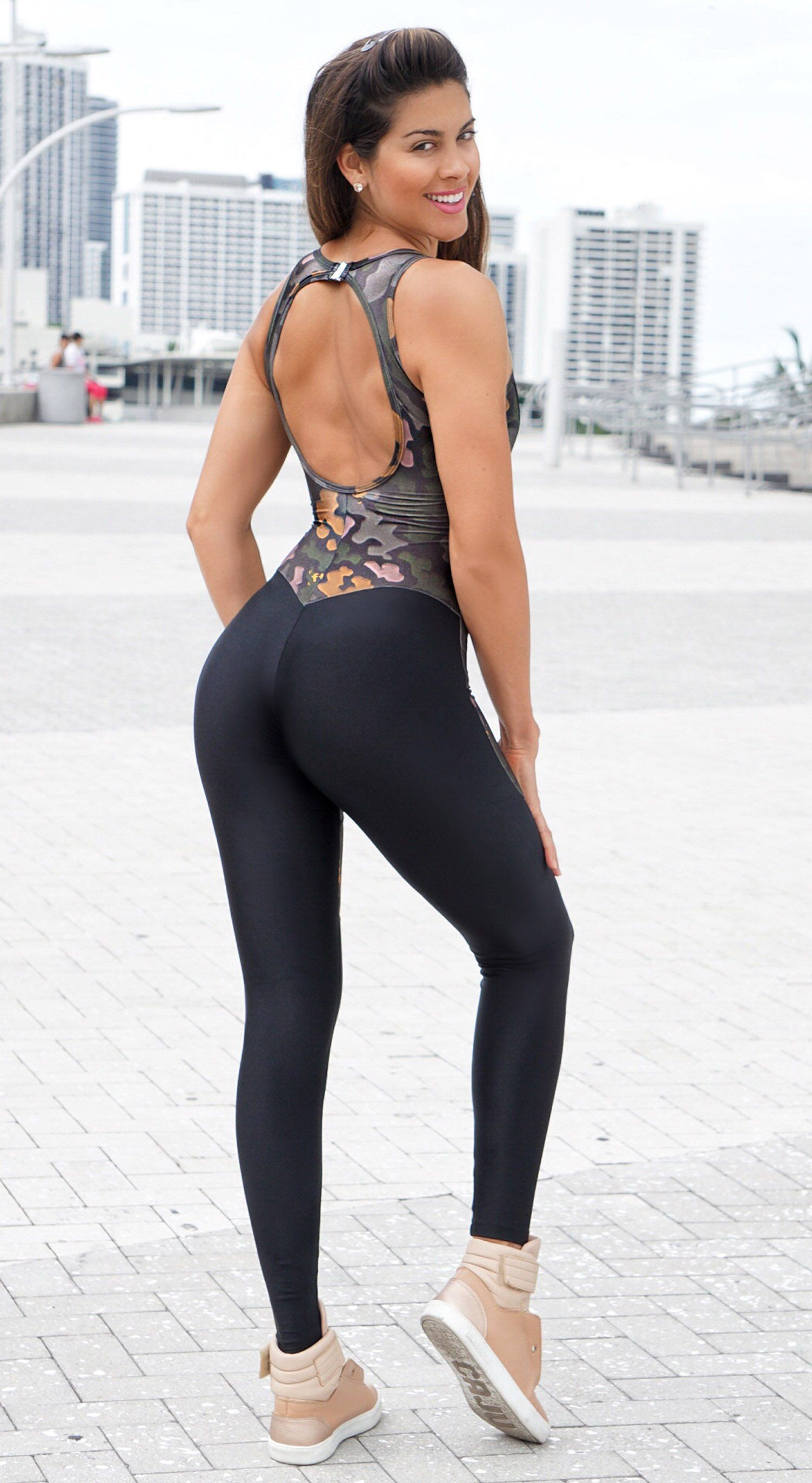 Brazilian Fitness Jumpsuit - Intensity Black