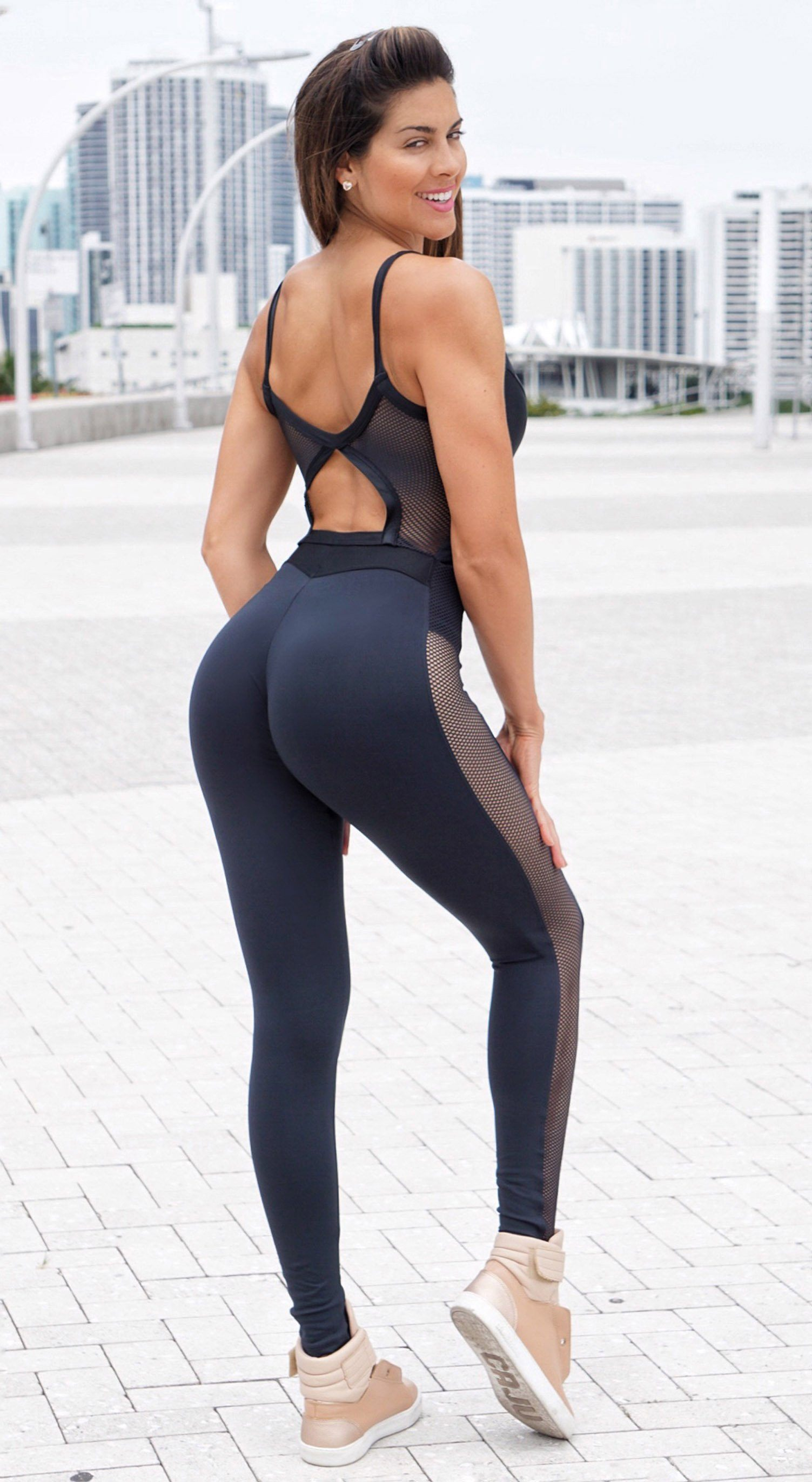 Brazilian Fitness Jumpsuit - NZ Queen Black