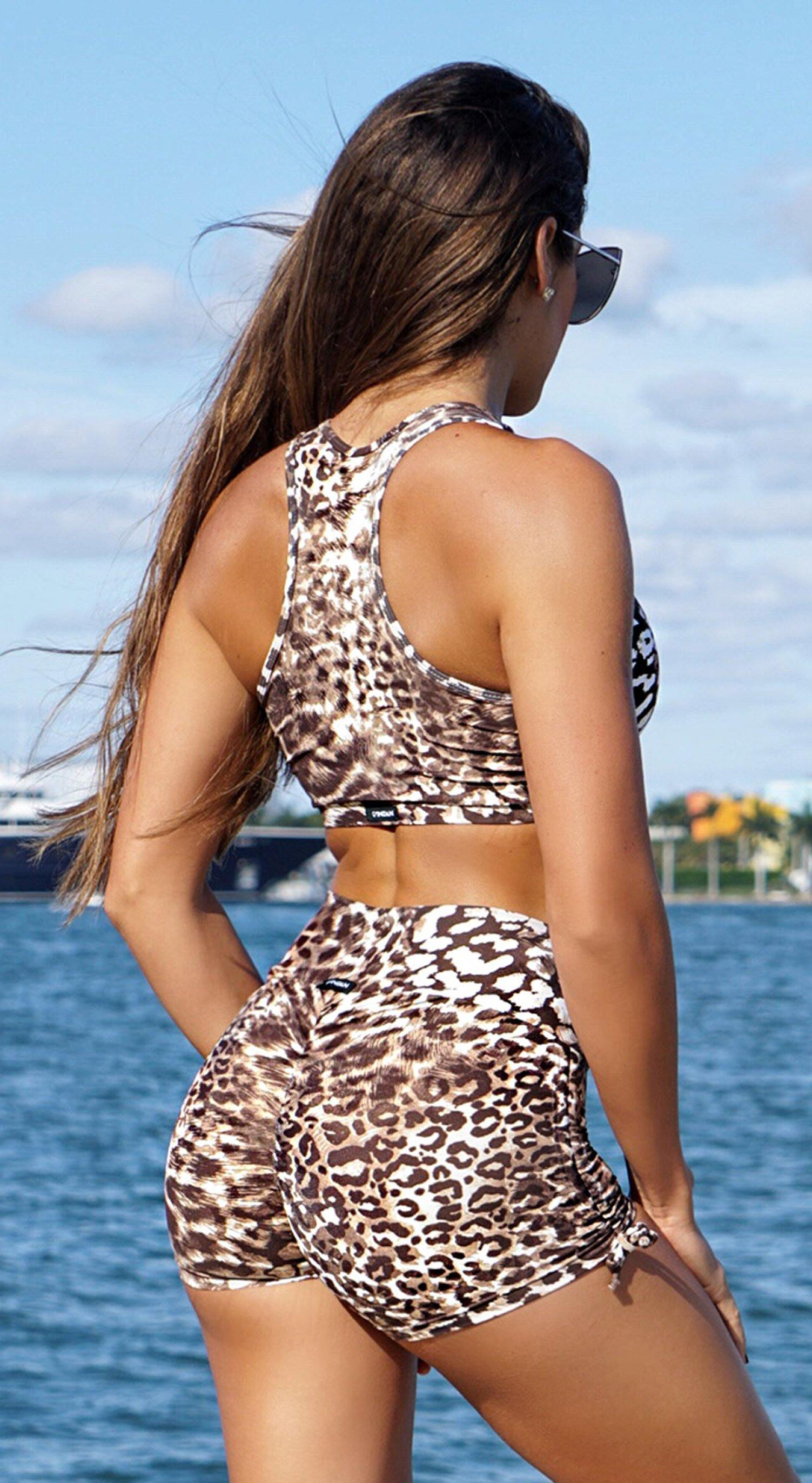 Brazilian Sports Bra - Jaguar Print