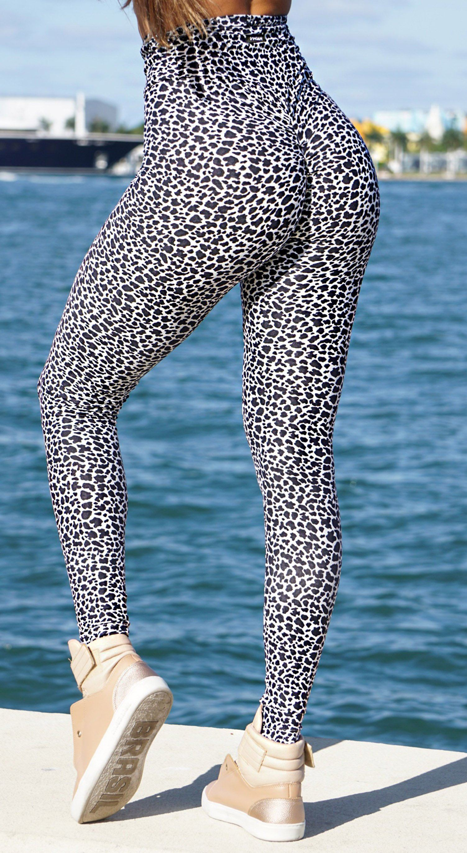 High Waist Leopard Print Leggings