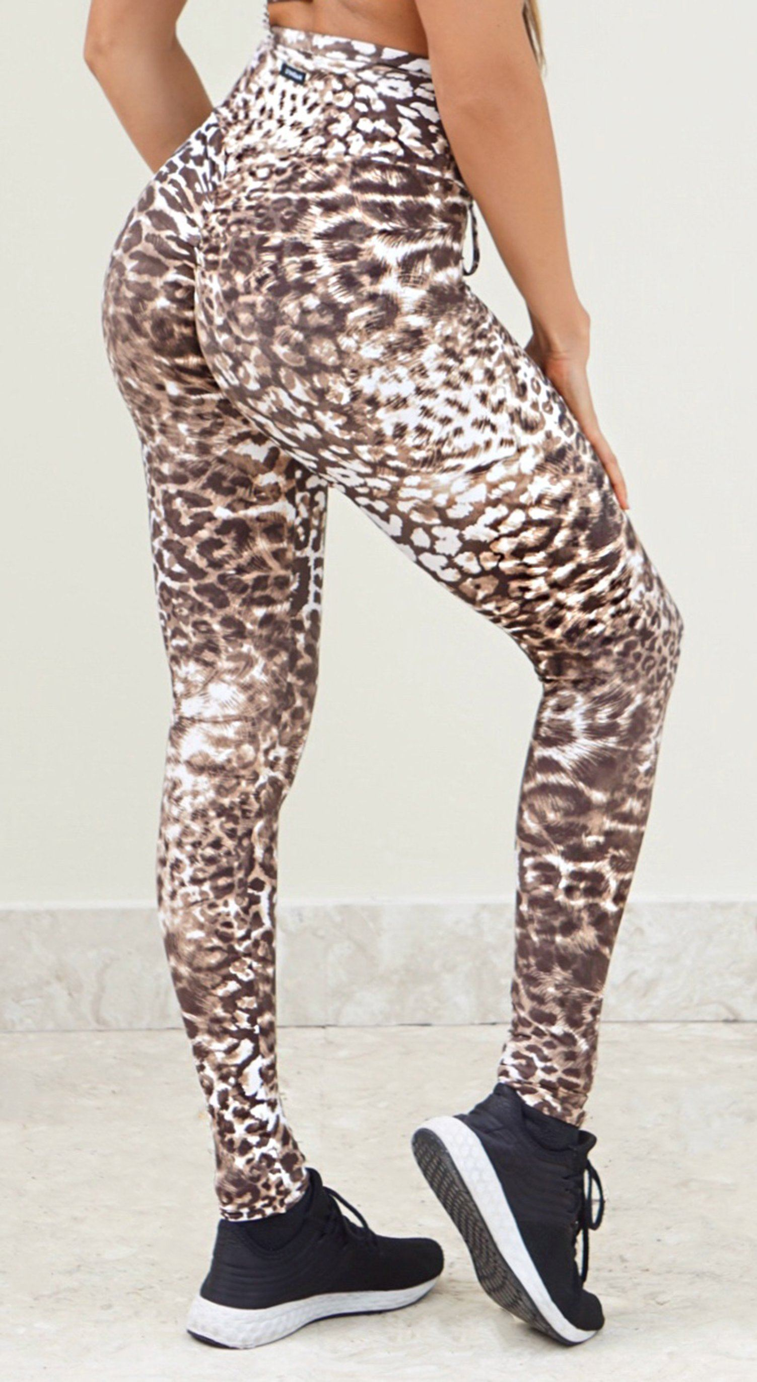 High Waist Jaguar Print Leggings