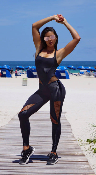 Brazilian Workout Jumpsuit - Bombshell Fitness Catsuit