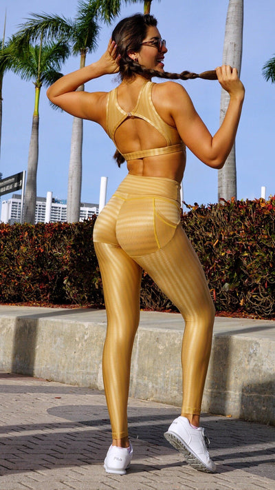 Brazilian Workout Legging - Push Up Butt Lift Golden