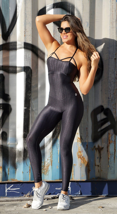 Gym Fitness Jumpsuit - Crisscross Back