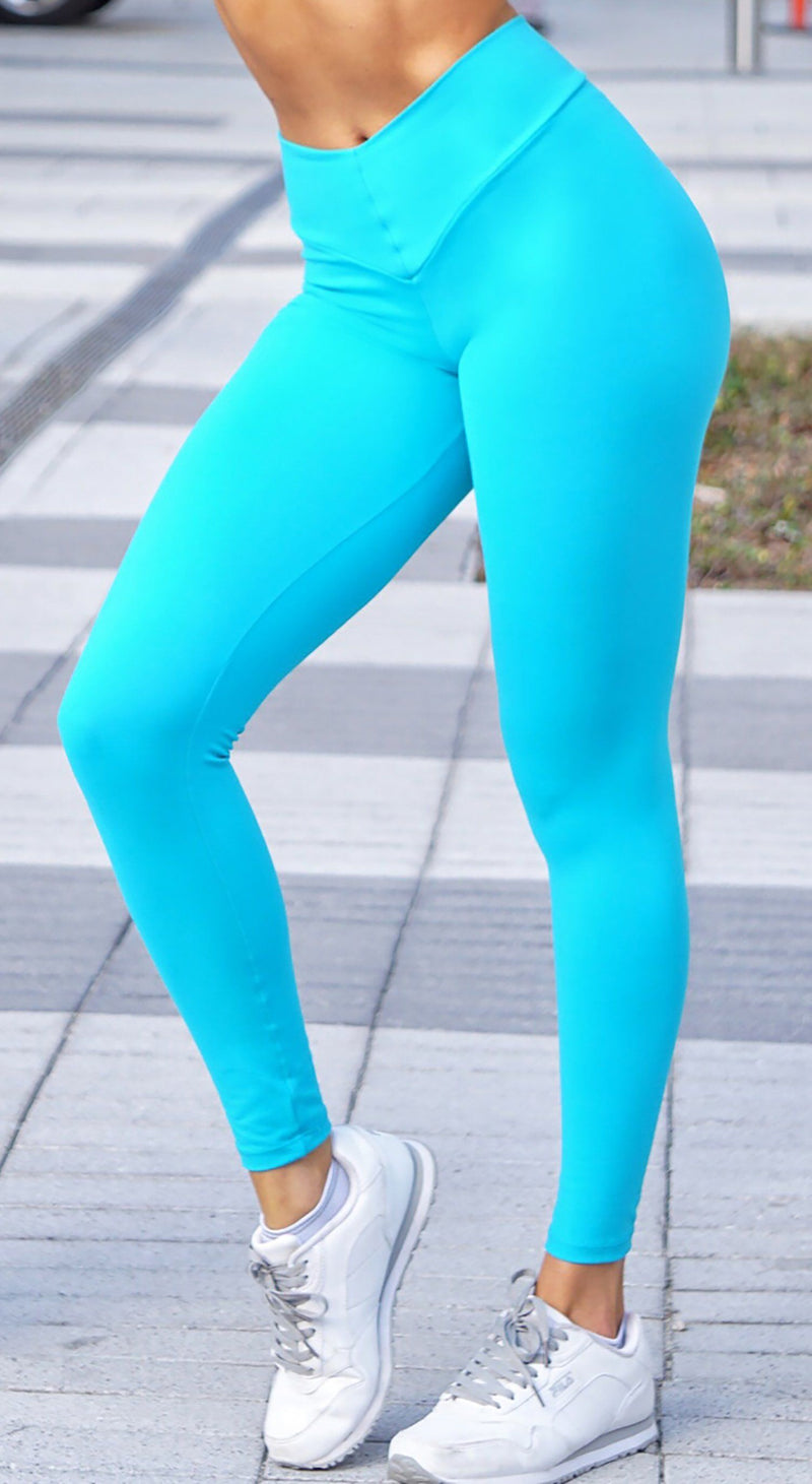 Scrunch Booty Lift Compression Sea Green Leggings