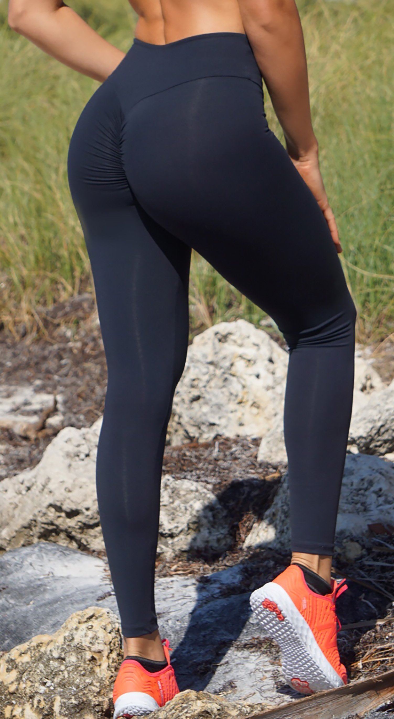 dde2f3de7b6e9a Canoan - Workout Legging - Zero Flaws High Waist Scrunch Booty Lift! Black