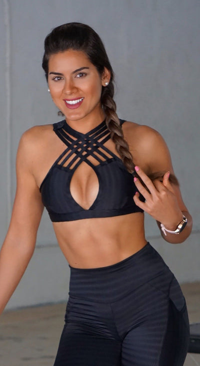 Brazilian Sports Bra - Electric Black