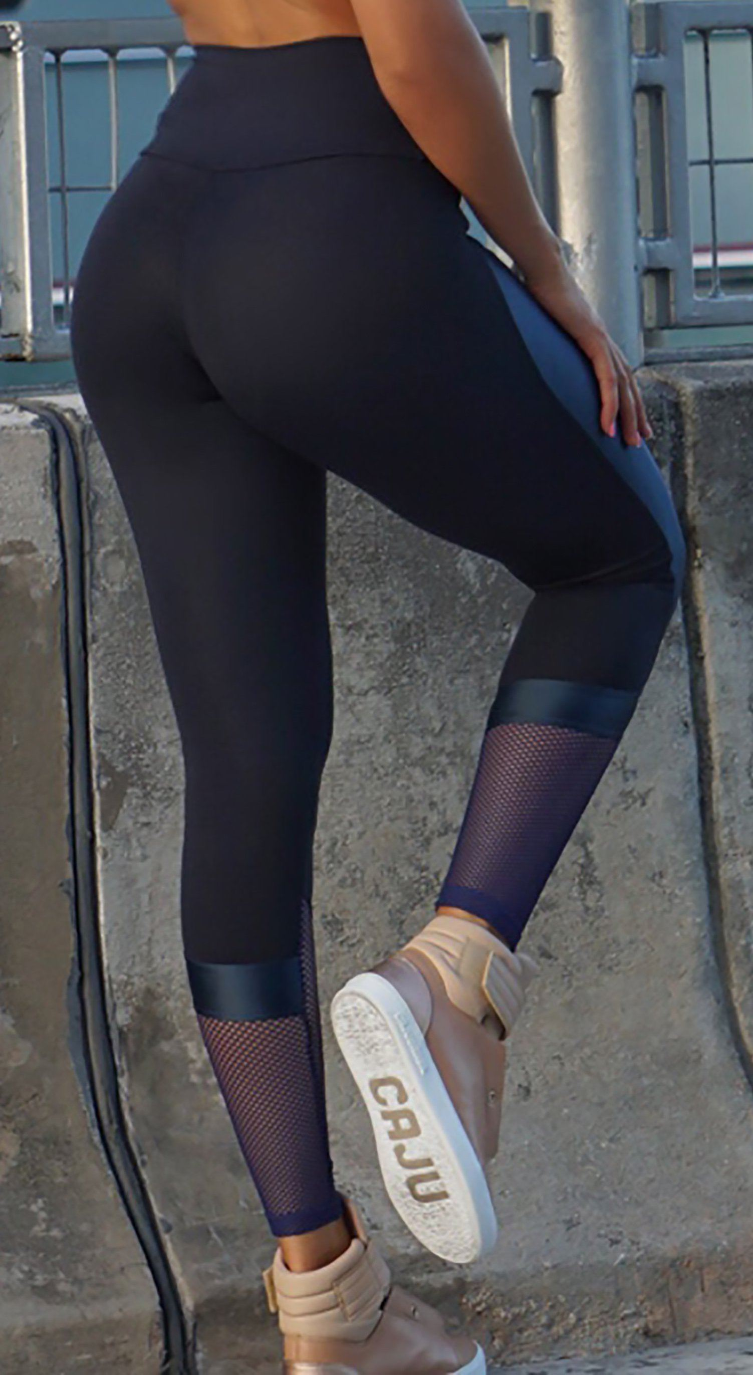 Brazilian Workout Legging - NZ Profile Black