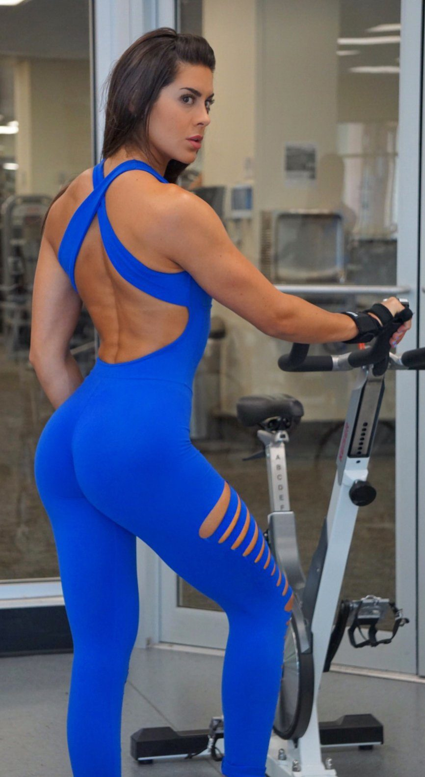 58c7e19f564c Brazilian Workout Jumpsuit - Ripped Heroine Royal Blue