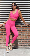 Brazilian Workout Top - Top Cropped Essential Hot Pink