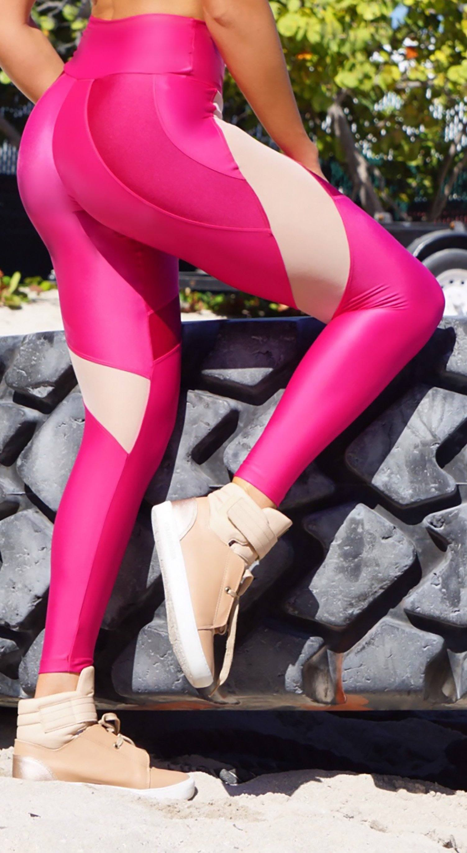 Brazilian Legging - Direction Pink