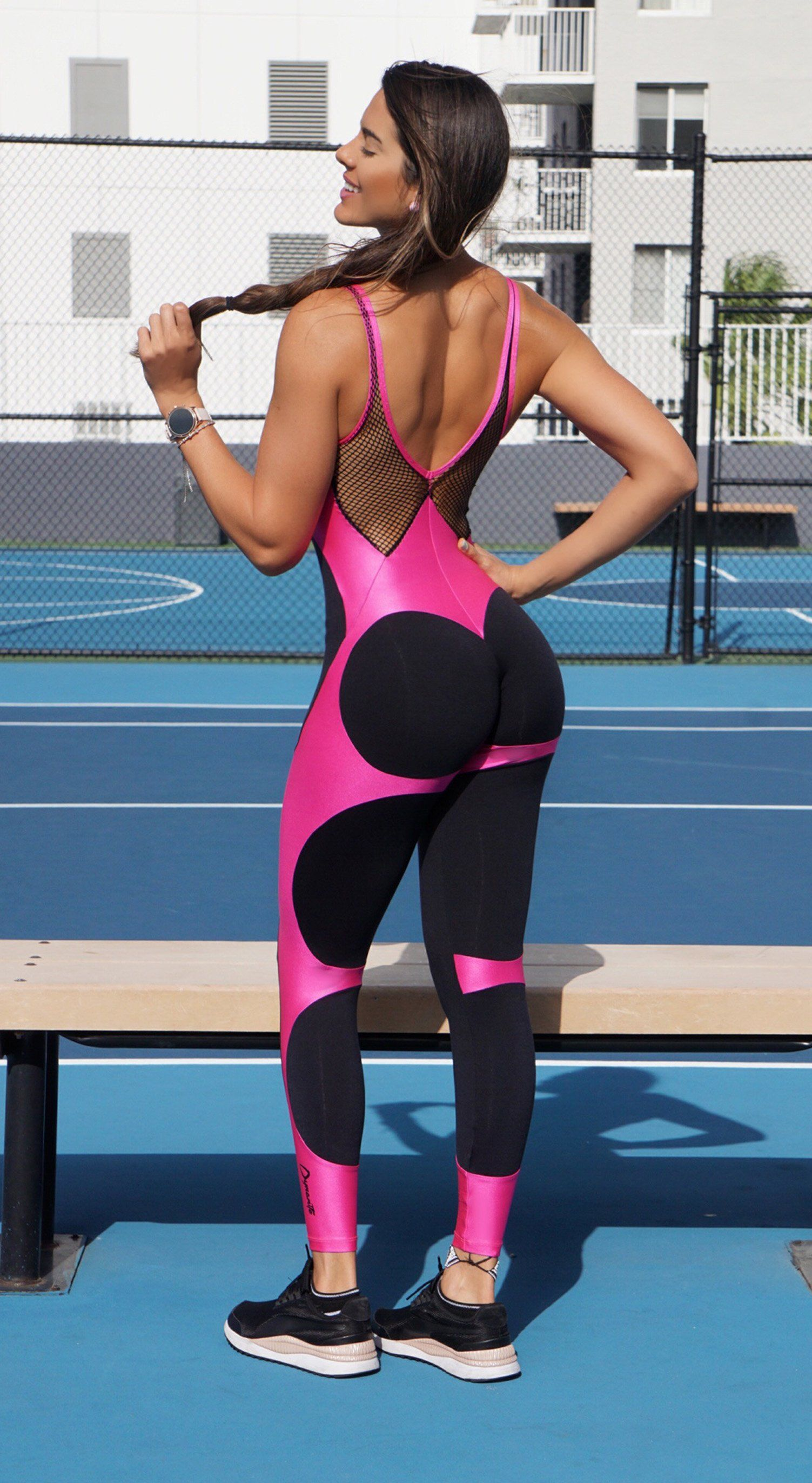 Brazilian Workout Jumpsuit  - Apple Booty Lilly Love Fitness Jumpsuit