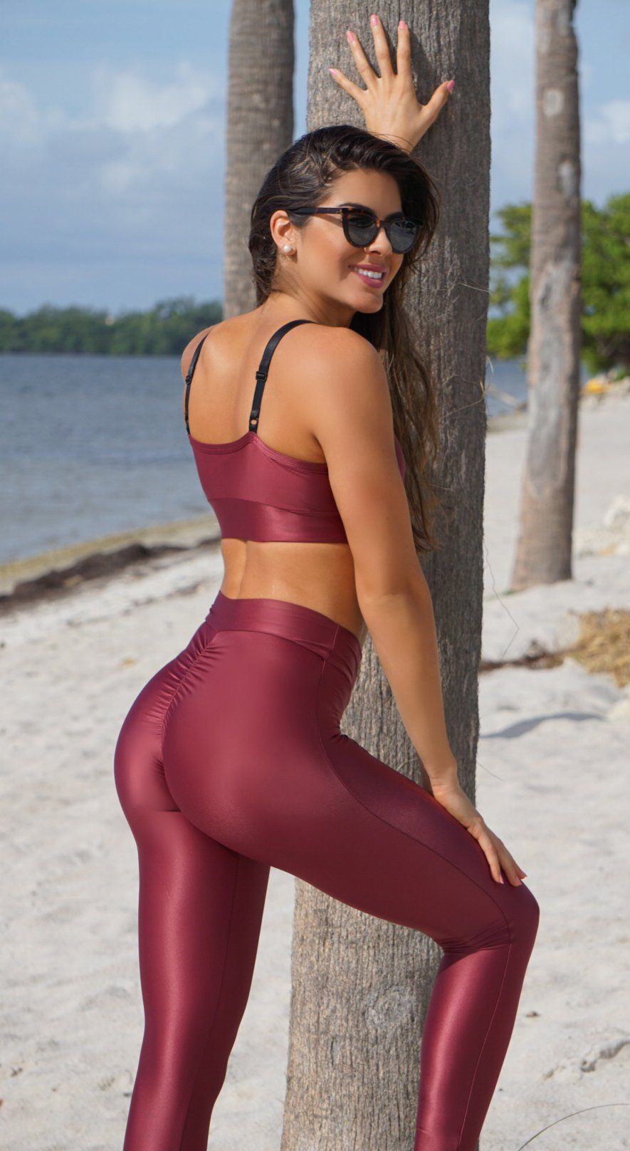 Sports Bra - Top Encourage Dark Red