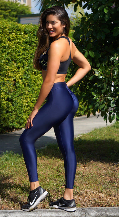 Brazilian Workout Legging - Sobe Scrunch Booty Navy