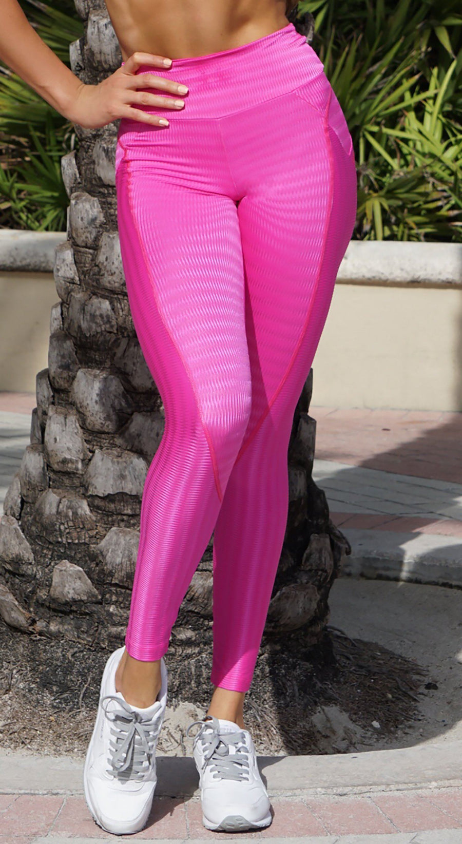 Brazilian Workout Legging - Push Up Butt Lift Hot Pink