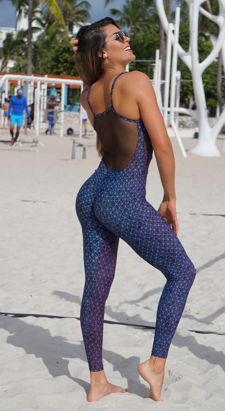 Brazilian Workout Jumpsuit - Crossfit Print One Piece