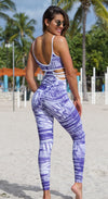 Brazilian Workout Jumpsuit - Emana Vibrant Print One Piece