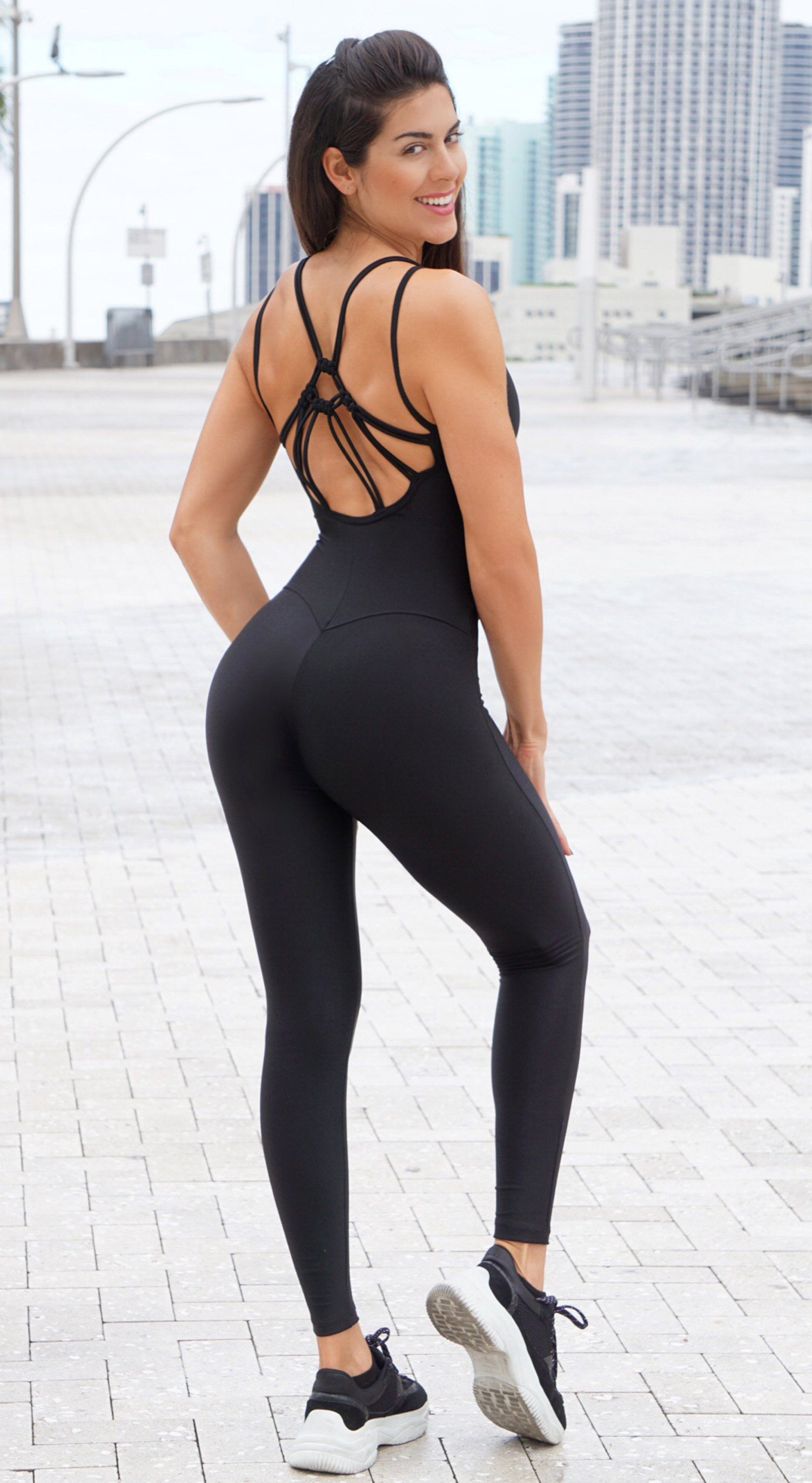 Brazilian Workout Jumpsuit - Fullness Black